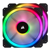 Corsair LL140 RGB Hydraulic Bearing 140mm Case Fan with Lighting Node Pro - Twin Pack