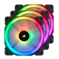 Corsair LL120 RGB Hydraulic Bearing 120mm Case Fan with Lighting Node Pro - Triple Pack