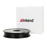Inland eLastic 1.75mm Black TPE 3D Printer Filament - 0.5kg Spool (1.1 lbs.)