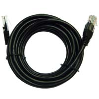 Inland Cat 5e Network Cable 14 ft. 5 Pack - Black