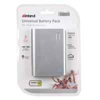 Inland 10,400mAh Power Bank - Silver