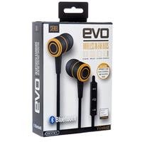 Sentry BT851 EVO Bluetooth Wireless In-Ear Buds w/ Mic - Black/Gold