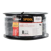 Inland CAT 5e Bulk Cable 250 ft. - Black