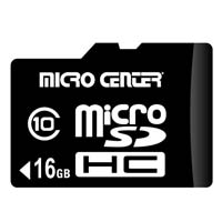 Micro Center 16GB microSDHC Card Class 10 Flash Memory Card with Adapter