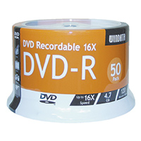 UME DVD-R 16x 4.7GB/120 Minute Disc 50-Pack Spindle