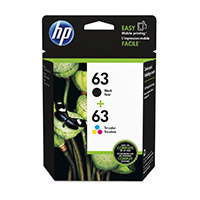 HP 63 Black/Tri-color Ink Cartridge 2-Pack