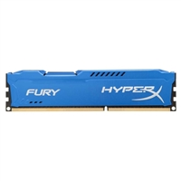 HyperX Fury Blue 4GB DDR3-1600 PC3-12800 CL10 Single Channel Desktop Memory Module HX316C10F/4 - Blue
