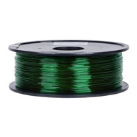 Inland 1.75mm Green PETG Plastic 3D Printer Filament - 1kg Spool (2.2 lbs)
