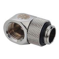 "Bitspower G 1/4"" Thread 90° Adapter -  Silver"
