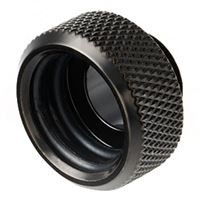"Bitspower G 1/4"" Straight Ridged Compression Fitting - Black"