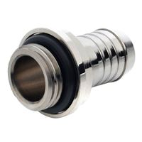 "Bitspower G 1/4"" Straight Barbed Fitting - Silver"
