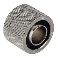 "Bitspower G 1/4"" Straight Compression Fitting - Black Sparkle"