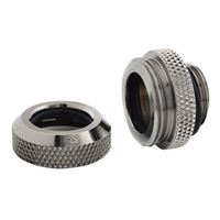 "Bitspower G 1/4"" Enhanced Straight Compression Fitting - Black Sparkle"