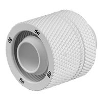 "Bitspower G 1/4"" Straight Compression Fitting - White"