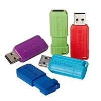 Verbatim 16GB PinStripe USB 2.0 Flash Drive 5 Pack, Assorted Colors