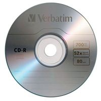 Verbatim CD-R 52x 700 MB/80 Minute Disc 10-Pack Cake Box