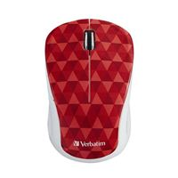 Verbatim Wireless Notbook Multi-Trac Blue LED Mouse - Red