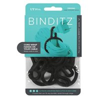 UT Wire Binditz Original Black Cable Ring - 12 Piece