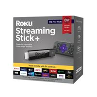 Roku Streaming Stick+ Streaming Media Player, HD/4K/HDR, Long-range Wireless, Voice Remote with TV Controls