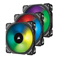 Corsair ML120 Pro RGB Magnetic Bearing 120mm Case Fan with Lighting...