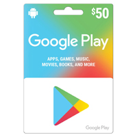 InComm $50 Google Play Gift Card