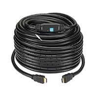 KanexPro HDMI Male to HDMI Male High-Res Cable w/ Built-In Signal Booster 50 ft. - Black