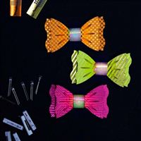 TechnoChic DIY Light-Up Blinky Bow Ties Kit - Neon (Hot Pink, Orange, Yellow)