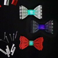 TechnoChic DIY Light-Up Blinky Bow Ties Kit- Formal (Red, White, Black)
