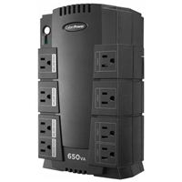 CyberPower Systems Standby Series 650VA 8 Outlet UPS w/ RJ11 Protection - Refurbished