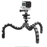 Bower Xtreme Action Series Flex Tripod for GoPro - Black/Gray