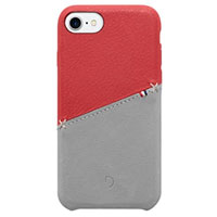 Decoded Leather Snap-On Case for iPhone 7 - Red /Gray