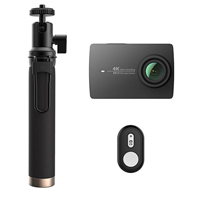 YI Technology 4K Action Camera with Selfie Stick & Bluetooth Remote - Night Black