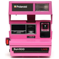 Impossible Polaroid Refurbished 600 Square Instant Camera - Pink