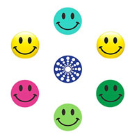 Mibutton Home Button Stickers - Happy Faces