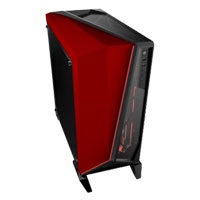 Corsair Carbide SPEC-OMEGA Red LED ATX Mid-Tower Computer Case - Red/Black