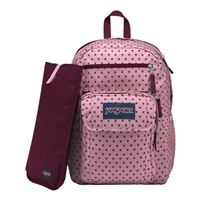 "Jansport Digital Student Backpack Fits Screens up to 15"" - Vintage Pink Dot"