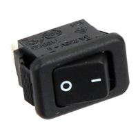 NTE Electronics Rocker Micro Snap-In Nylon SPST 6A 125VAC Switch - Black