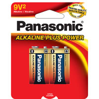 Panasonic Alkaline Plus Power 9V Battery - 2 pack