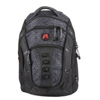 "Swiss Gear Laptop Backpack Fits Screens up to 16"" - Black Geo Print"