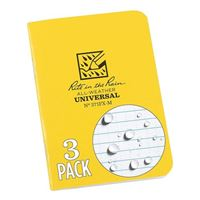 Rite In The Rain Mini-Stapled All-Weather Notebook- Yellow