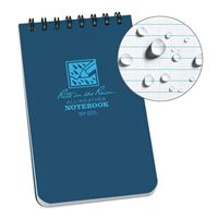 "Rite In The Rain Top Spiral 3"" X 5"" All Weather Pocket Notebook - Blue"