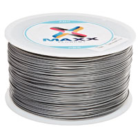 Leapfrog MAXX Economy 1.75mm Royal Silver ABS 3D Printer Filament - 1.0kg Spool (2.2 lbs)