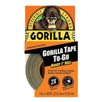"Gorilla Glue Tape to Go - 1"" x 30' Black"