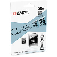 Emtec International 32GB Classic microSDHC Class 10 Flash Memory Card