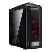 Cooler Master Trooper SE Red LED Tempered Glass XL-ATX Full-Tower Computer Case - Black