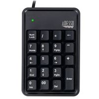 Adesso 19-Key Mechanical Keypad with 3-Port USB Hub