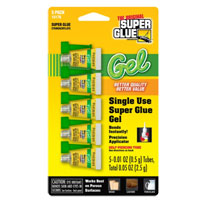 Pacer Technology Single Use Super Glue Gel 5-Pack 0.01oz