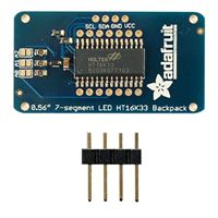 "Adafruit Industries 0.56"" 4-Digit 7-Segment Display w/I2C Backpack - White"