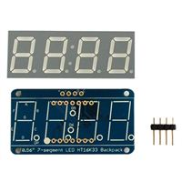 "Adafruit Industries 0.56"" 4-Digit 7-Segment Display w/I2C Backpack - Blue"