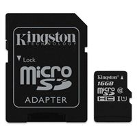 Kingston 16GB Canvas Select microSDHC Class 10 Flash Memory Card with Adapter
